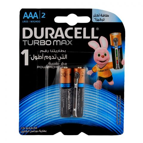 Duracell Turbo Max AAA Batteries 1.V 2-Pack