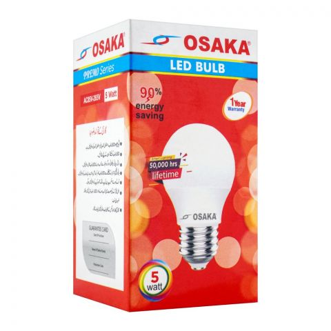 Osaka LED Bulb, 5W, E27, Day Light