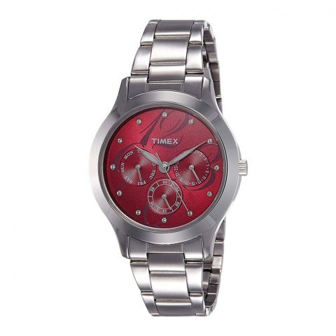 Timex E-Class Analog Red Dial Women's Watch - TI000Q80200