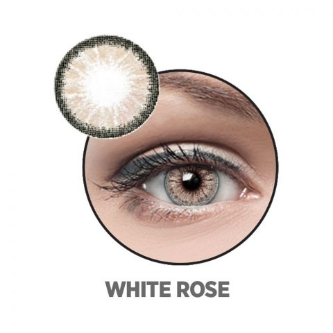 Optiano Soft Color Contact Lenses, White Rose