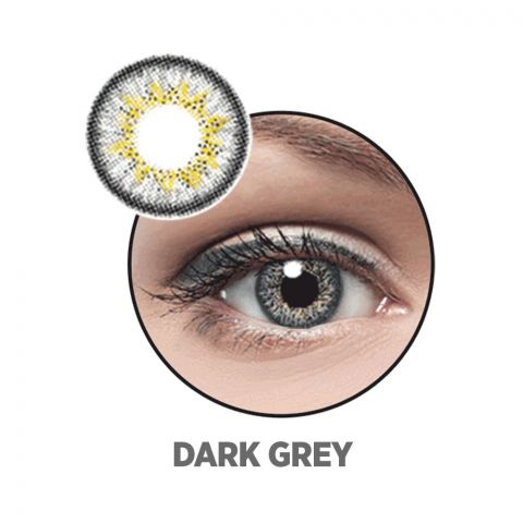 Optiano Soft Color Contact Lenses, Dark Grey