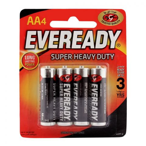Eveready AA Batteries Super Heavy Duty 4-Pack