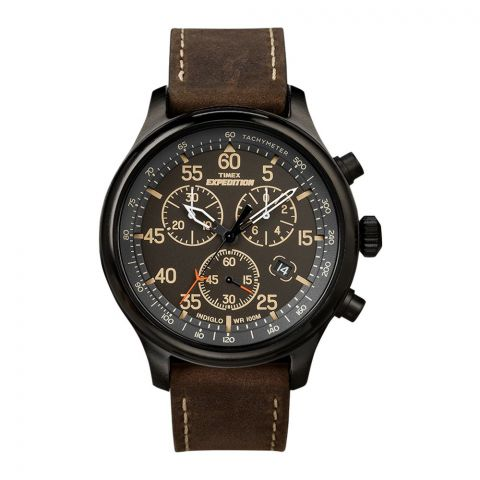 Timex Men's Expedition Rugged Field Chronograph Watch, Black - T49905