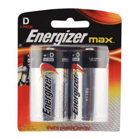 Energizer Max D 1.5V Batterries 2-Pack