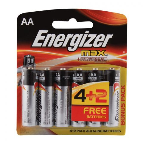 Energizer AA Max Batteries 6-Pack BP-6