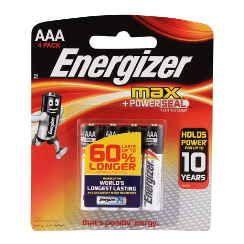 Energizer AAA Max Batteries 4-Pack BP-4