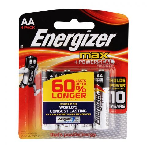 Energizer AA Max Batteries 4-Pack BP-4