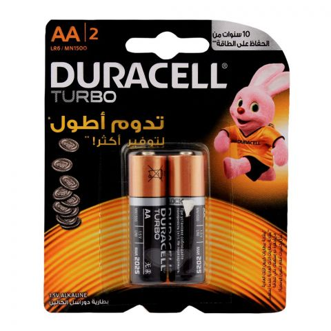 Duracell Turbo AA Batteries 1.5V 2-Pack