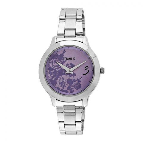 Timex Fashion Analog Women's Watch, Purple - TI000T60200