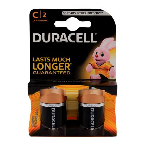 Duracell C Size Batteries 2-Pack