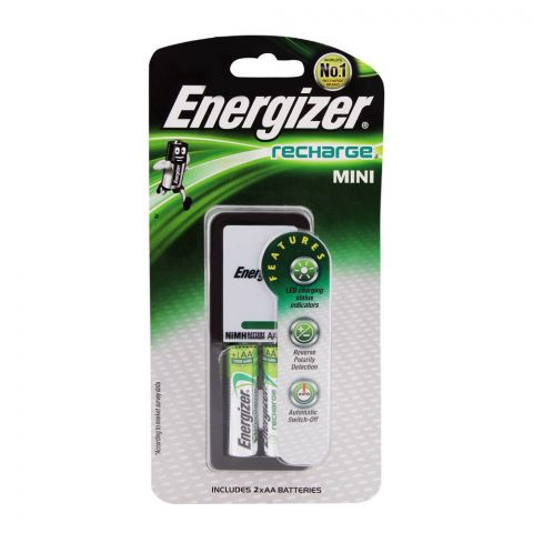 Energizer Mini Charger 2000 2xAA Batteries