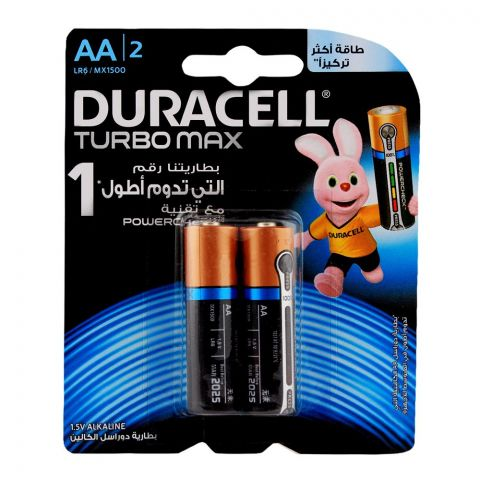 Duracell Turbo Max AA Batteries 1.5V 2-Pack