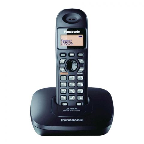 Panasonic 2.4GHz Digital Cordless Phone, Black, KX-TG3611BX
