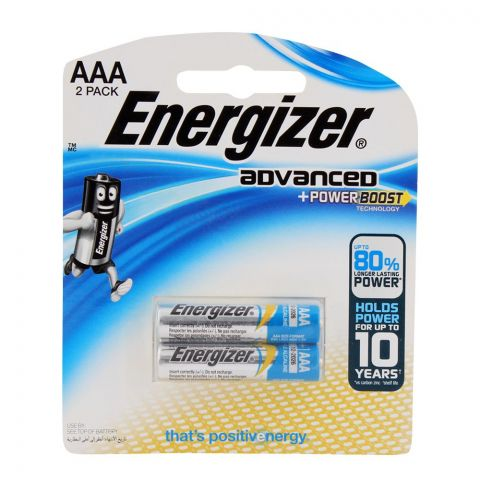 Energizer Advanced +Powerboast AAA Batteries 2-Pack RP-2