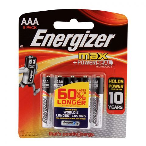 Energizer AAA Batteries 8-Pack BP-8