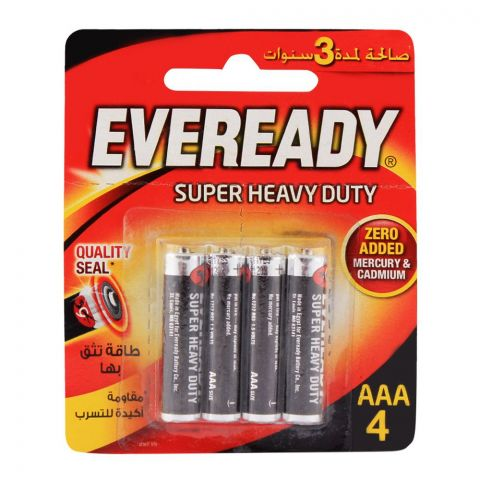 Eveready AAA Batteries 4-Pack Super Heavy Duty