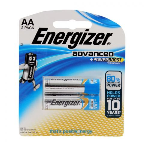 Energizer Advanced E2 AA Batteries 2-Pack RP-2