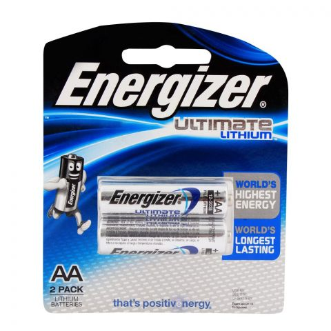 Energizer Lithium AA Batteries 2-Pack