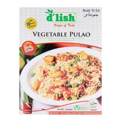 D'Lish Vegetable Pulao 250gm