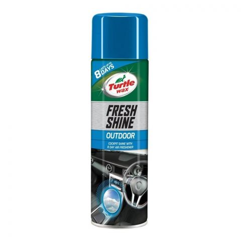 Turtle Wax Fresh Shine Outdoor, Cockpit Shine & Air Freshener, 500ml