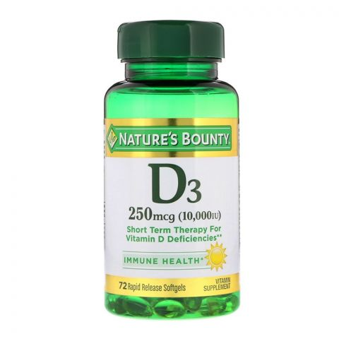 Nature's Bounty Vitamin D3 250mcg 10000 IU