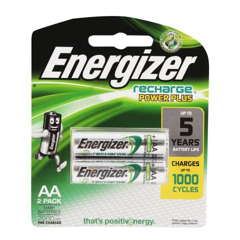 Energizer Rechargrable AA Batteries 2000mAH 2-Pack