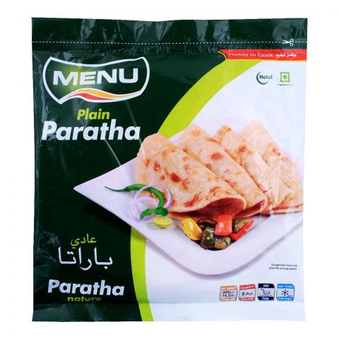 Menu Plain Paratha, 5 Pieces