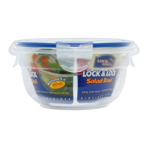 Lock & Lock Air Tight Round Salad Bowl 480ml, LLHSM943