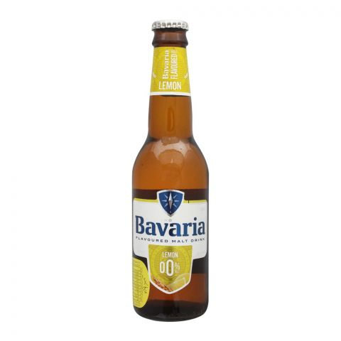 Bavaria Lemon Flavour Malt Drink, Bottle, 330ml