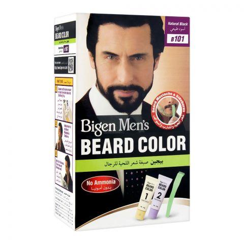 Bigen Men's Beard Color, Natural Black B101