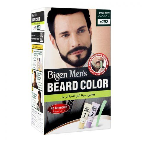 Bigen Men's Beard Colour, Brown Black B102