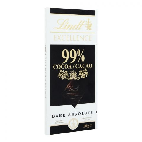 Lindt Excellence Cocoa 99% Dark Chocolate, 50g
