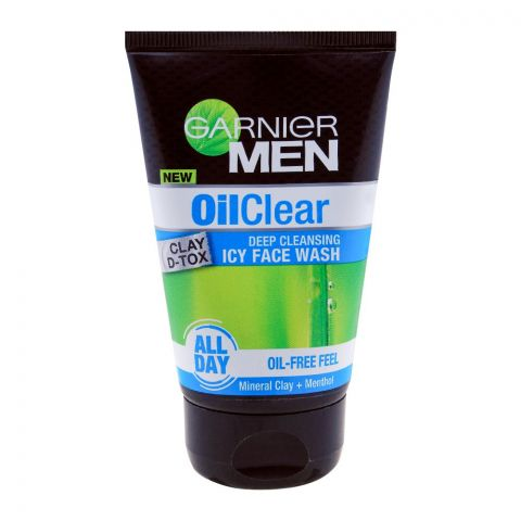 Garnier Men Oil Clear Deep Cleansing Icy Face Wash 100g