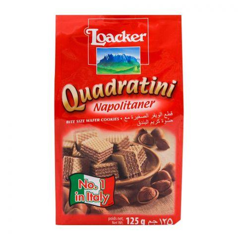 Loacker Quadratini Napolitaner Wafer 125gm