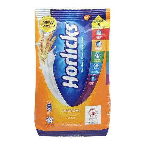 Horlicks Original Malted Drink, Pouch, 400g
