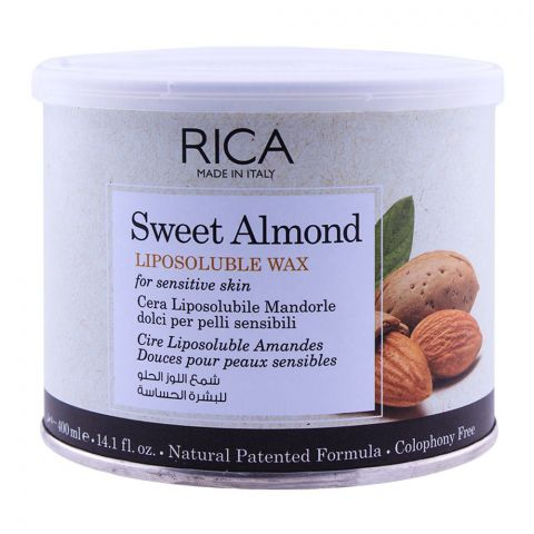 RICA Sweet Almond Sensitive Skin Lipsoluble Wax 400ml