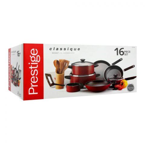 Prestige Classique Non Stick Cooking Set, 16 Pieces, 21234
