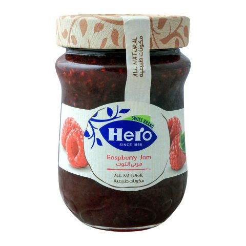 Hero All Natural Raspberry Jam, 350gm