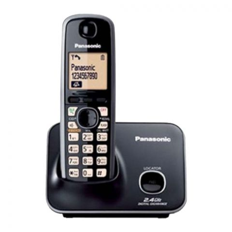 Panasonic 2.4GHz Digital Cordless Phone, Black, KX-TG3711BX