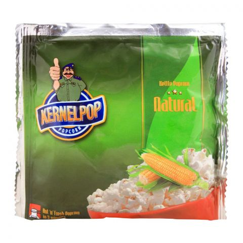 KernelPop Kettle Popcorn, Natural, 80g