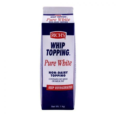 Rich's Whip Topping Pure White, Non-Dairy Topping, 1 KG