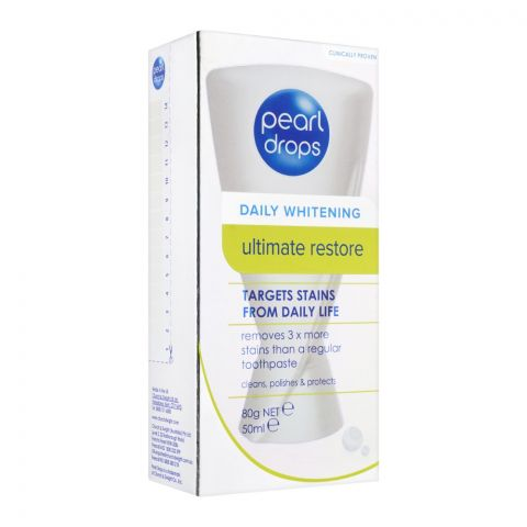 Pearl Drops Daily Whitening Ultimate Restore Toothpaste, 50ml