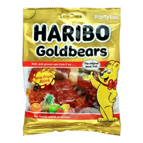 Haribo Gold Bears Jelly, Party Size Pouch, 160g