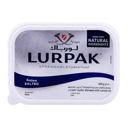 Lurpak Salted Spreadable Butter Tub 500g