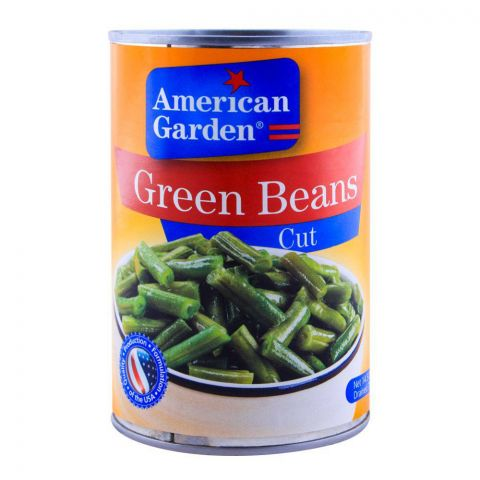 American Garden Green Beans, Cut, Tin, 411g