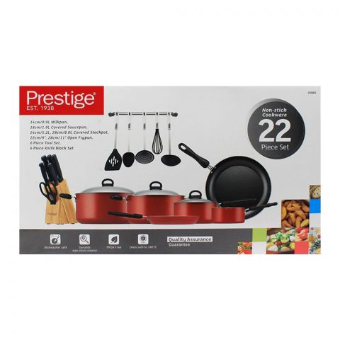 Prestige Non-Stick Cooking Set 22-Pack - 20965