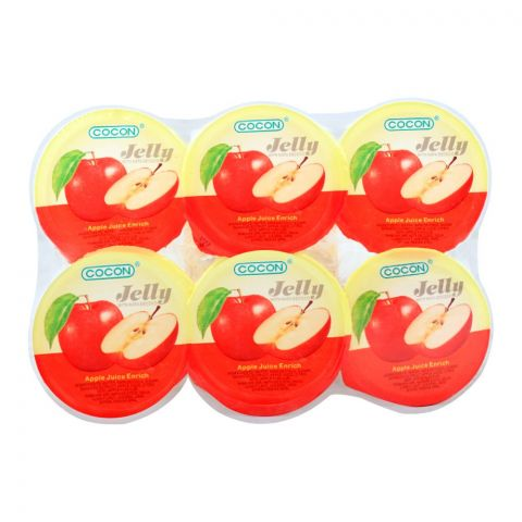 Cocon Apple Jelly, With Nata De Coco, 6 Pieces