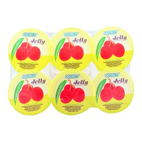 Cocon Lychee Jelly, With Nata De Coco, 6 Pieces