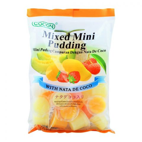 Cocon Mixed Mini Pudding, 25 Pieces, , With Nata De Coco, 375g