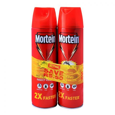 Mortein Flying Insect Killer Spray, 2x375ml, Save Rs. 50